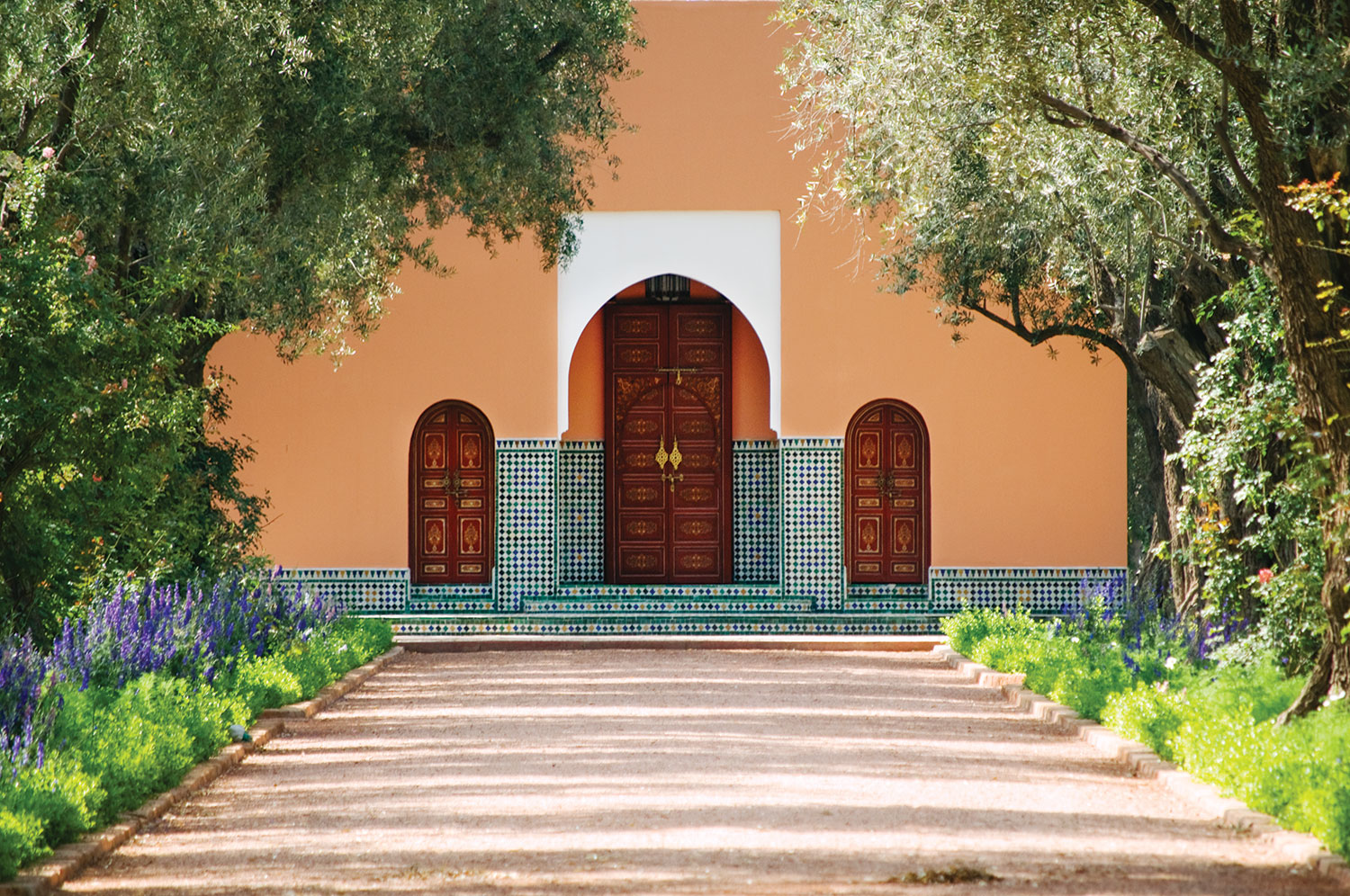 The Menzeh Pavilion At The La Mamounia Hotel Shows Off Signature Tilework  And Arch Detailing.