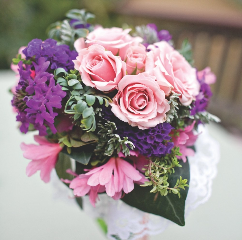 pink tussie mussie, engagement flowers, meanings of flowers