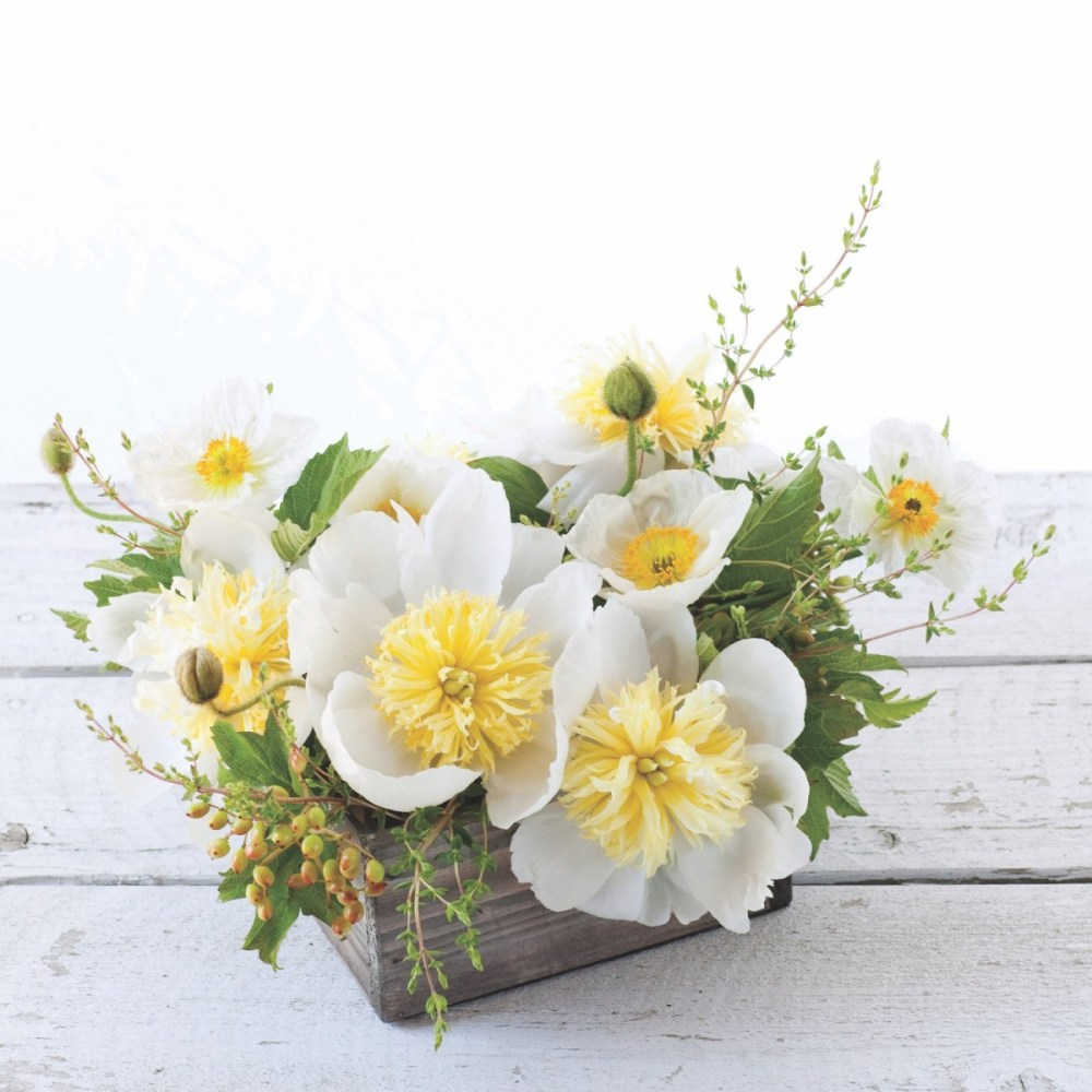 flower recipe book, peonies