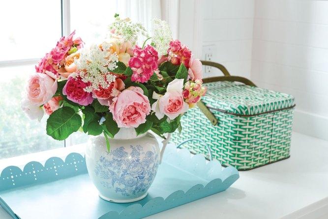 Cathy Graham, summer flower arrangement