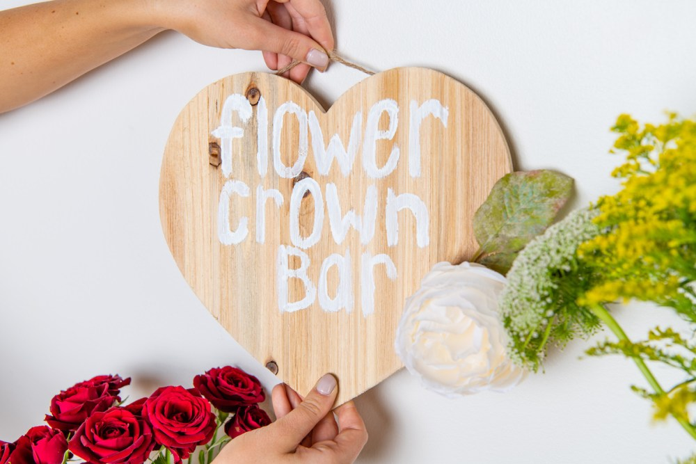 flower crown bar