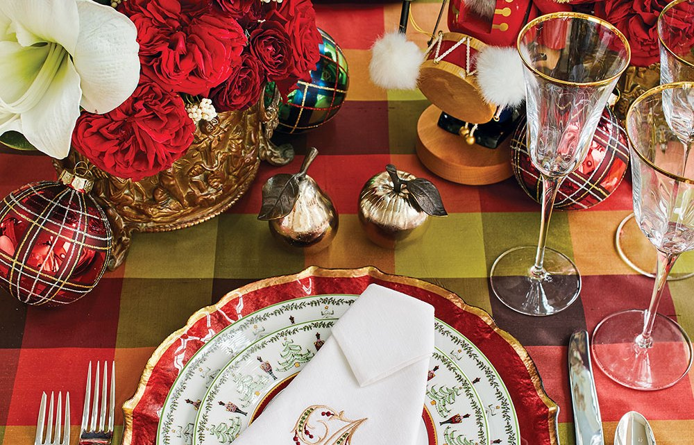 holiday tables, christmas table setting