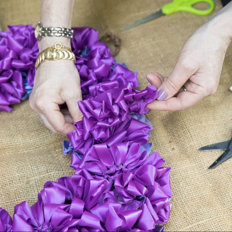 Ruched Ribbon Garland For Wreaths Laura Dowling Flower Magazine