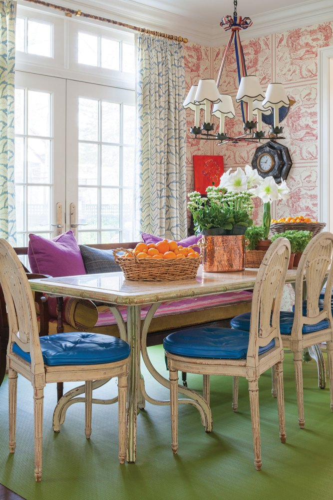 Interior designer Jeffrey Bilhuber, dining room