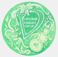 logo for Vintage English Teacup, a popup shop at ADAC in Bloom 2019