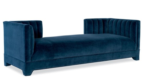posh daybed in a rich dark blue fabrice