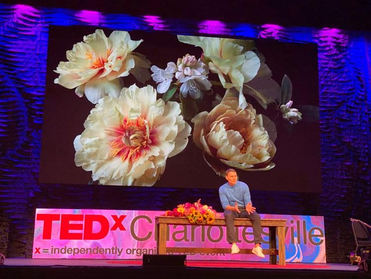 floral designer news, Lewis Miller speaks at TEDx Charlottesville