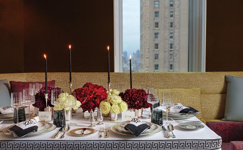 chic dinner party table setting