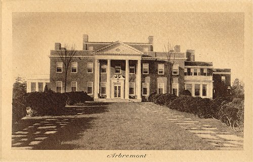 historic photo of Hillwood house and estate