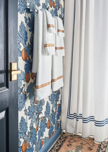 towels, shower curtain
