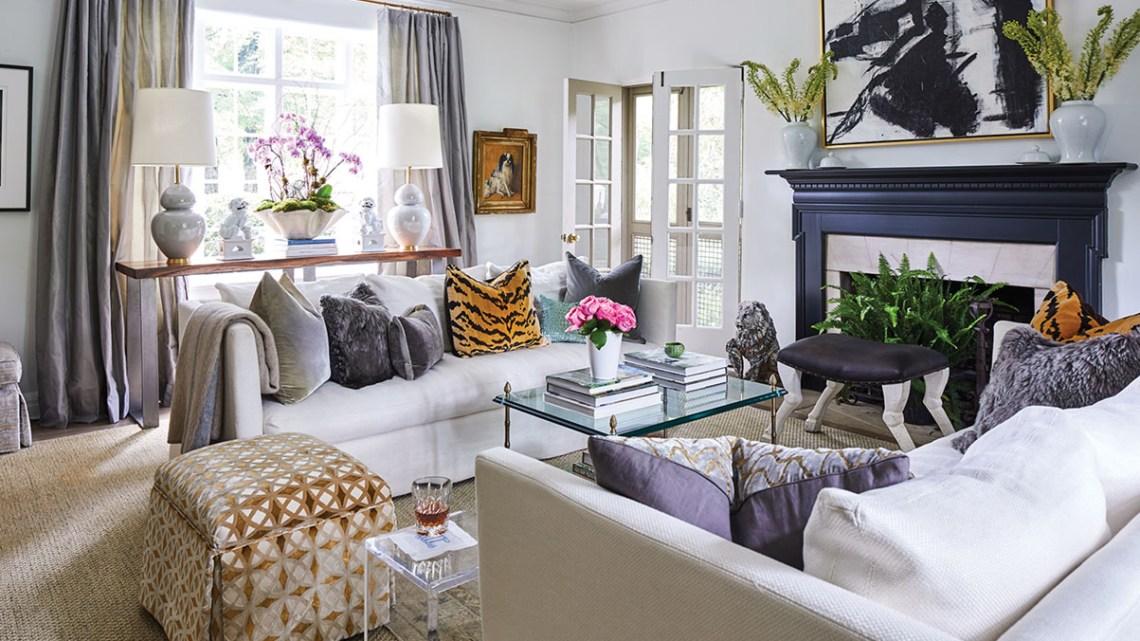 Nashville living room of Lorie and Gavin Duke