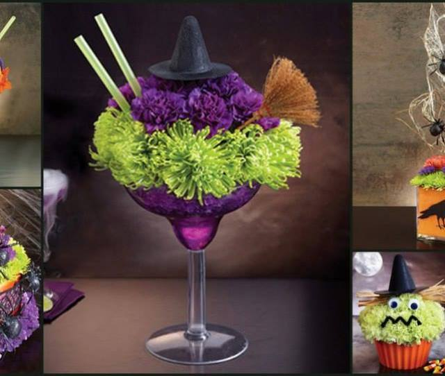 Halloween Flowers Collage