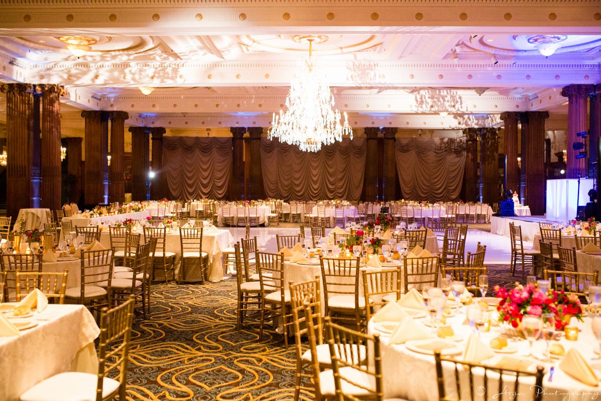 Glamorous Crystal Tea Room Wedding