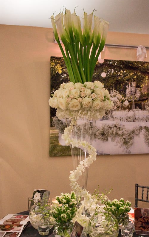 Amanda Austins stand at at the Designer Wedding Show  Flowerona