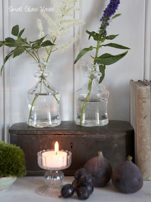 Six small vases from Nordic Houseperfect for simple