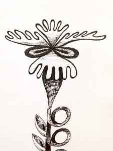 Flower sketch #4