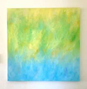 """Ethereal Painting 36x36"""", front view"""