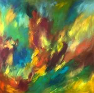 Living Energy Painting - underpainting
