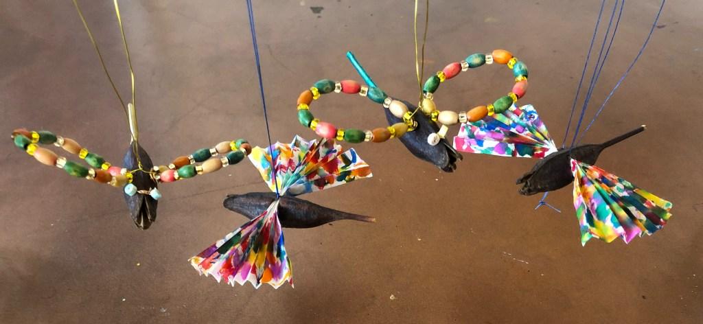 daylily seed head pod birds