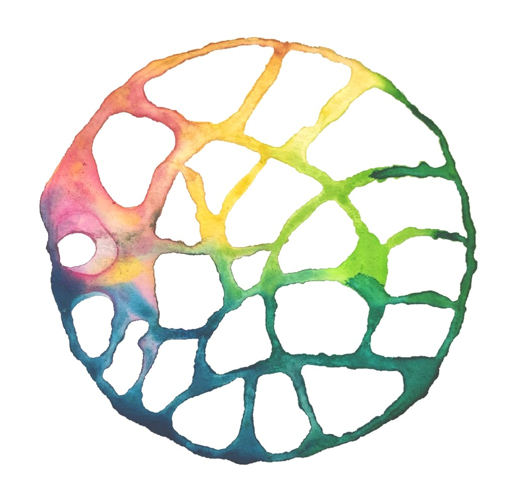 circular image, drawing with water