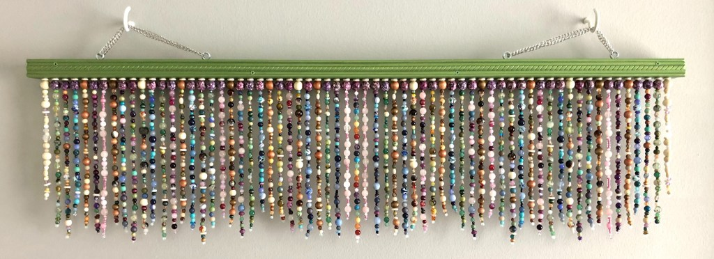 beaded-art-piece for clients work space