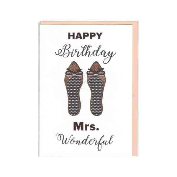 Karte Happy Birthday Mrs. Wonderful