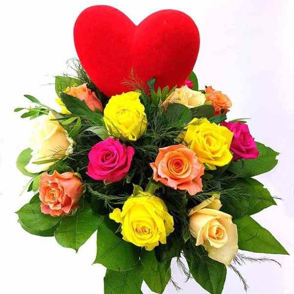 Herzliche Rosenfreude