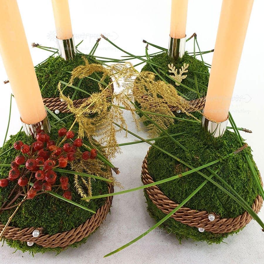 Mooskugeln Advent 5