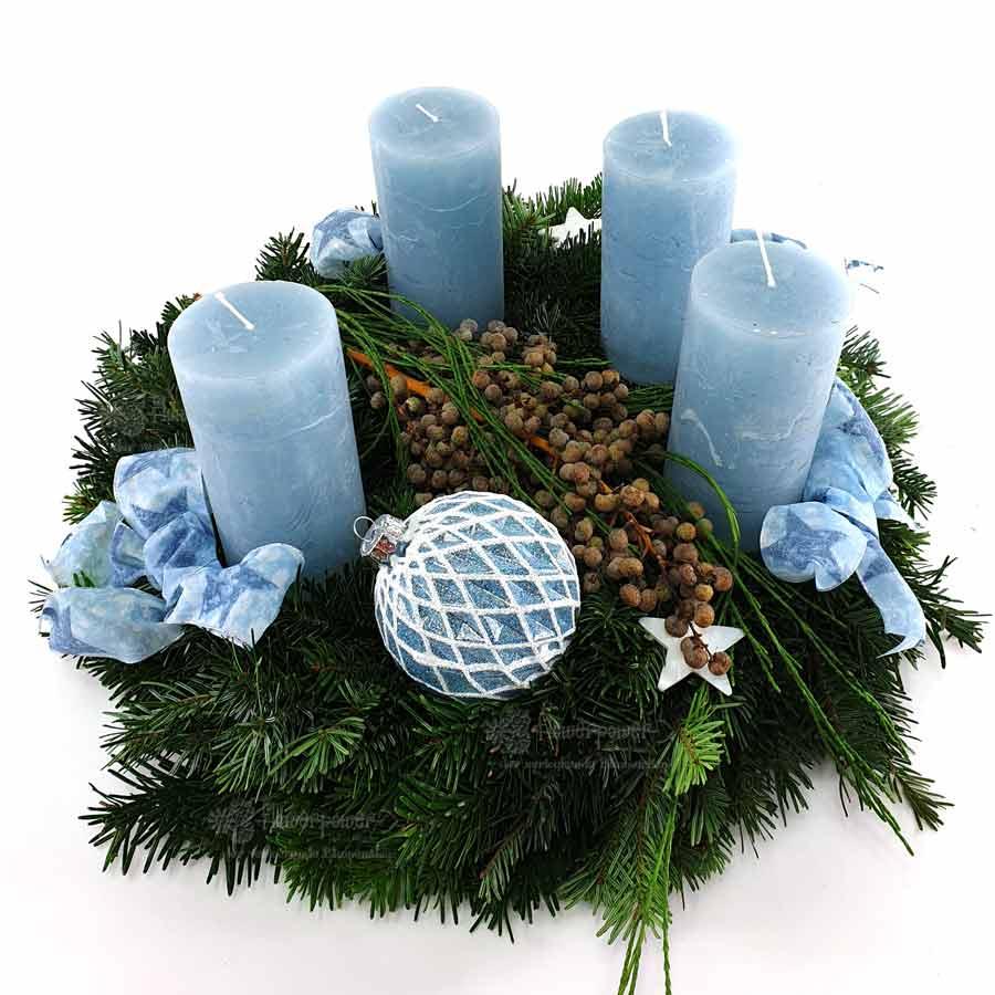 Adventkasten Blau