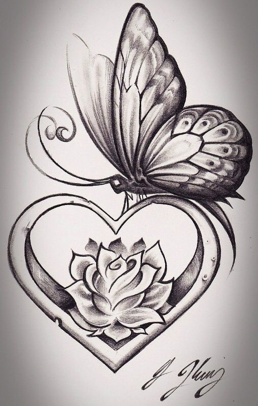 hummingbird diagram of color 2000 dodge durango parts flowers drawings inspiration : get rid the butterfly and i love flower inside heart ...