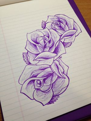 rose sketch drawing drawings roses flowers three tattoo tattoos sketches simple flower pretty designs draw hip visit shoulder hand easy