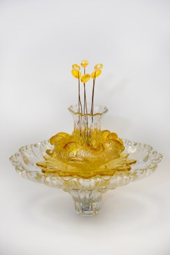 Golden Murano & Crystal Headshot