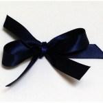 Navy satin ribbon