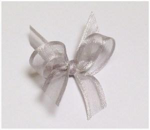 Silver/grey organza ribbon