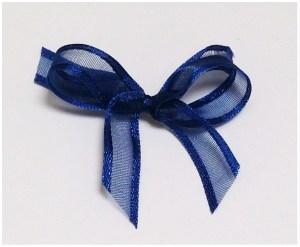 Navy organza/satin ribbon