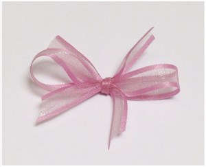 Dusty pink organza ribbon