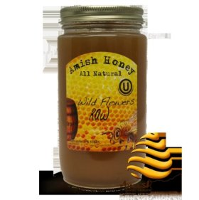 100% Natural Raw Domestic Wild Flower Honey – Made in USA (Lancaster, PA) 1lb – *Amish Honey*