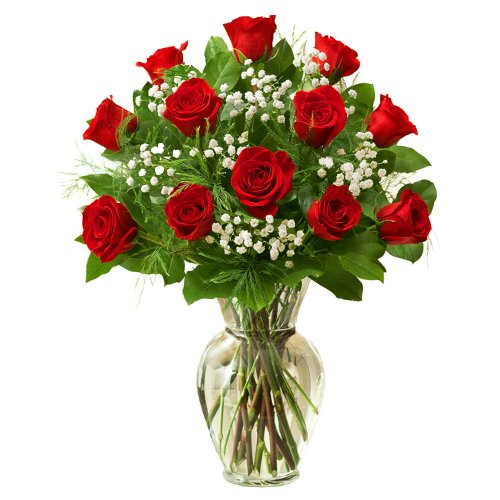 1800Flowers – Rose Elegance Premium Long Stem Red Roses – 12 Stem Red Roses