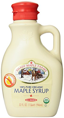 Shady Maple Farms Organic Maple Syrup, Grade B, 32 Ounce