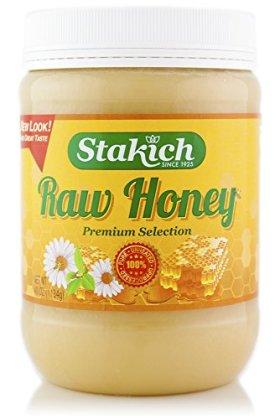Stakich RAW HONEY 40-OZ, Pure, Unprocessed, Unheated, KOSHER