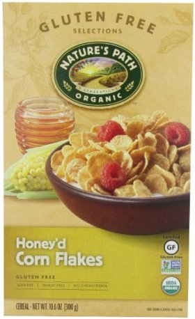 Nature's Path Organic Honey'd Corn Flakes Cereal, 10.6-Ounce Boxes (Pack of 6)