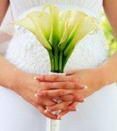 Classic White Calla Lily Wedding Bouquet