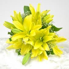 Classic Yellow Asiatic Lily Bridesmaid Bouquet