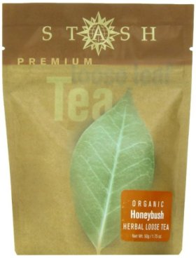 Stash Premium Organic Honeybush, Loose Leaf Tea, 1.75 Ounce Pouch