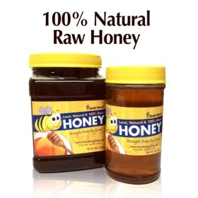 Natural Raw Honey, Fresh & Straight From the Farm – 100% Natural Honey – 1lb