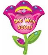 32″ Get Well Soon Flower B260