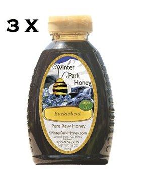 Buckwheat Honey 48oz (Raw Honey – 3 x 16oz Winter Park Honey Buckwheat)