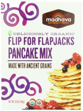 Madhava Organic Pancake Mix with Ancient Grains, Flip for Flapjacks, 16 Ounce (Pack of 6)