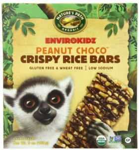 EnviroKidz Organic Lemur Peanut Choco Drizzle Crispy Rice Bar, 6-Count Bars, 6oz Boxes(Pack of 6)