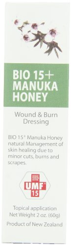 UMF 15+  Manuka Honey Wound and Burn Dressing, 2-Ounce Tubes (Pack of 2)